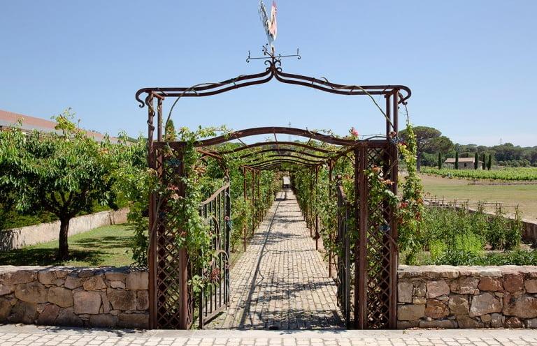 Arche de jardin fer forgé