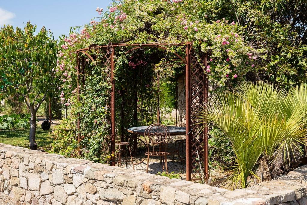 Pavillon de jardin fer forgé